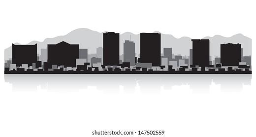 El Paso USA city skyline silhouette vector illustration
