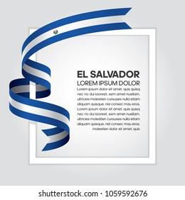 El Salvador flag background