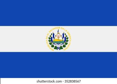 El Salvador Flag - Vector Illustration Vector Illustration of El Salvador Flag Icon