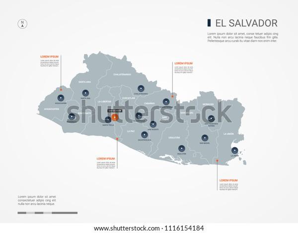 El Salvador Map Borders Cities Capital Stock Vector (Royalty ... on map of isla margarita, map of campinas, map of san pedro de atacama, map of bissau, map of guatemala, map of regions of brazil, map of culiacan, map of south of the border, map of san pedro de macoris, map of asunción, map of ciudad del este, map of pereira, map of san pedro la laguna, map of central america, map of ilhabela, map of antarctic sound, map of sunset boulevard, map of la serena, map of honduras, map of san cristobal de las casas,