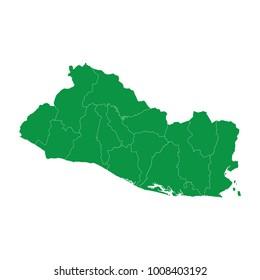 El Salvador Green Map Stock Vector (Royalty Free) 575243752 ...