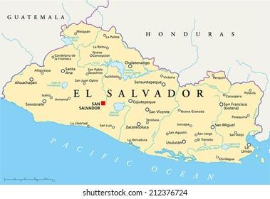 El Salvador Map Images Stock Photos Vectors Shutterstock
