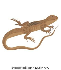 Elasmosaurus lizard flat icon vector graphic