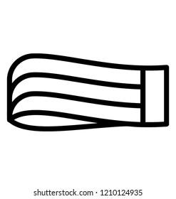 Elastic band line icon, rubber concept