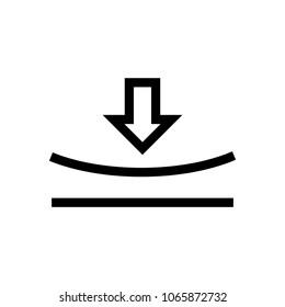 Elastic icon, vector illustration