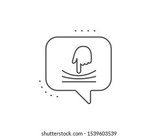 Elastic line icon. Chat bubble design. Resilience material sign. Outline concept. Thin line elastic icon. Vector
