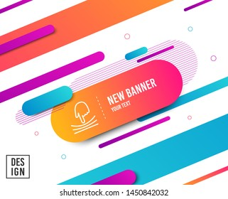Elastic line icon. Resilience material sign. Diagonal abstract banner. Linear elastic icon. Geometric line shapes. Vector