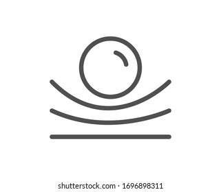 Elastic material line icon. Resilience or flexibility sign. Flexible pressure symbol. Quality design element. Editable stroke. Linear style elastic material icon. Vector