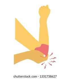 Elbow bleeding flat icon design