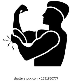 Elbow bleeding solid icon design