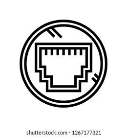 elctronic hardware icon isolated on white background, vector illustration