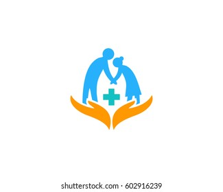 Elderly Care Logo Design Element
