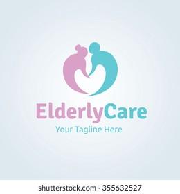 Elderly Care Logo Template.