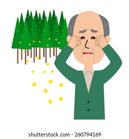 Itchy Eyes With Pollen, Sneezing Children Royalty Free Cliparts, Vectors,  And Stock Illustration. Image 139448498.