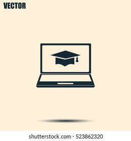 e-learning concept design, vector illustration