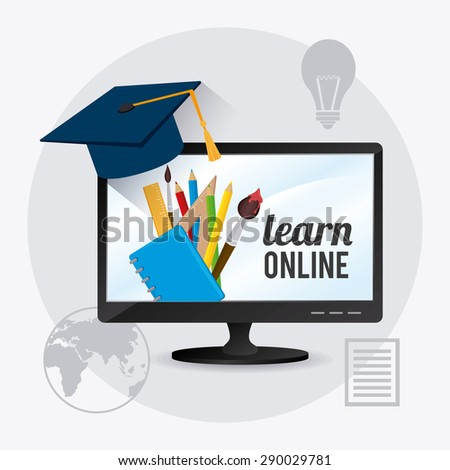 elearning digital design, vector illustration eps 10