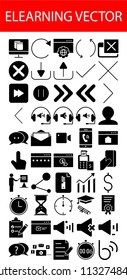 Elearning icons and vectors