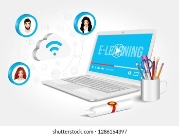 E-learning - the internet as a knowledge base that gives new learning opportunities.