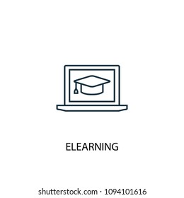 eLearning line icon. Simple element illustration. eLearning symbol design from eLearning collection. Can be used in web and mobile.