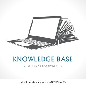 Elearning logo - e-learning and knowledge base concept
