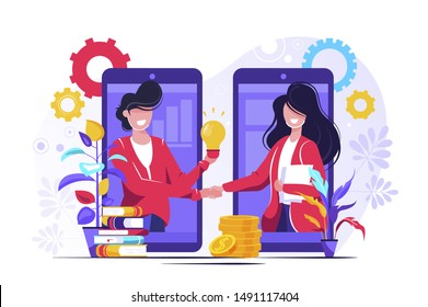 E-learning platform, online course, Students in Caps Happy to Finish University Education Vector Illustration, Banner, Group of Diverse International Graduating Students Celebrating, Alumni.