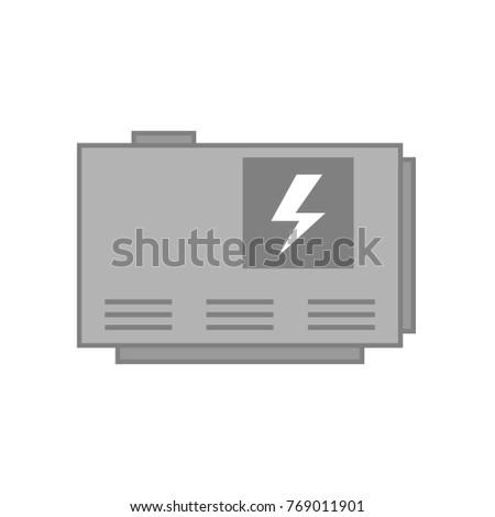 Elecrtic Home Generator Vector Illustration Isolated Stock