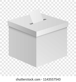 Election box mockup. Realistic illustration of election box vector mockup for on transparent background