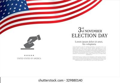 Election day. Brochure design templates