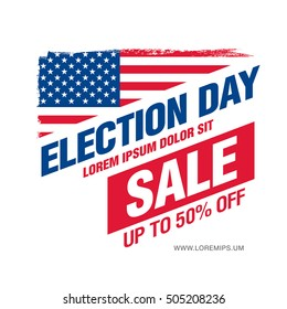 Election day sale. Vector banner