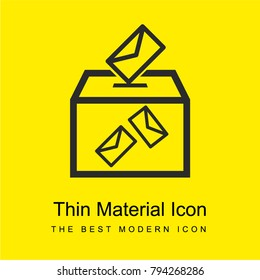 Election envelopes and box bright yellow material minimal icon or logo design