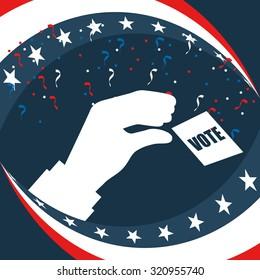 election season design, vector illustration eps10 graphic