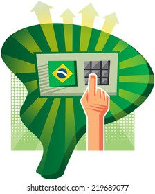 Elections in Brazil are made with an electronic voting machine