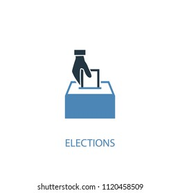 Elections concept 2 colored icon. Simple blue element illustration. Elections concept symbol design from elections set. Can be used for web and mobile UI/UX