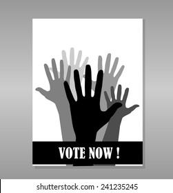 Elections concept vector design