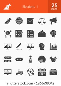 Elections Glyph Icons