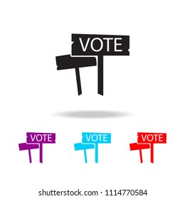 electoral banner  icon. Elements of election in multi colored icons. Premium quality graphic design icon. Simple icon for websites, web design, mobile app, info graphics on white background