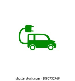 Electra car green icon. Element of nature protection icon for mobile concept and web apps. Isolated Electra car icon can be used for web and mobile on white background
