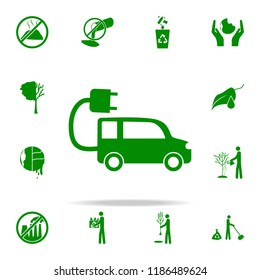 Electra car green icon. greenpeace icons universal set for web and mobile