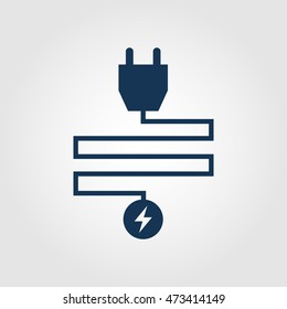Electrial plug icon for websites and apps