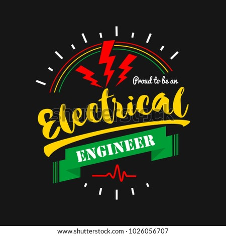 electric badge logo template vector typographic のベクター画像素材
