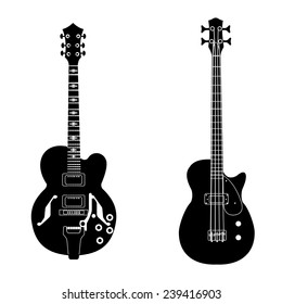 Electric and bass guitar