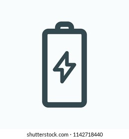 Electric battery icon. Power battery vector icon