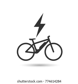 Electric bicycle, e-bike icon. Vector