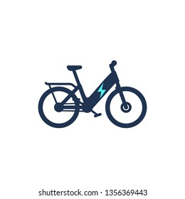 Electric bike  or electro bicycle ebike icon