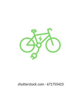 Electric bike icon, e-bike