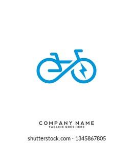 Electric Bike Icon Logo Design Element