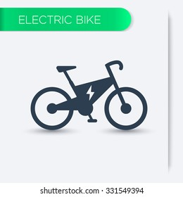 Electric bike icon, vector illustration