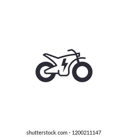 Electric bike, motorcycle vector icon on white