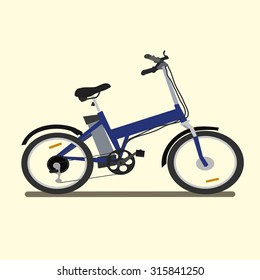 Electric bike. vector illustration.
