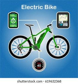 Electric bike vector illustration